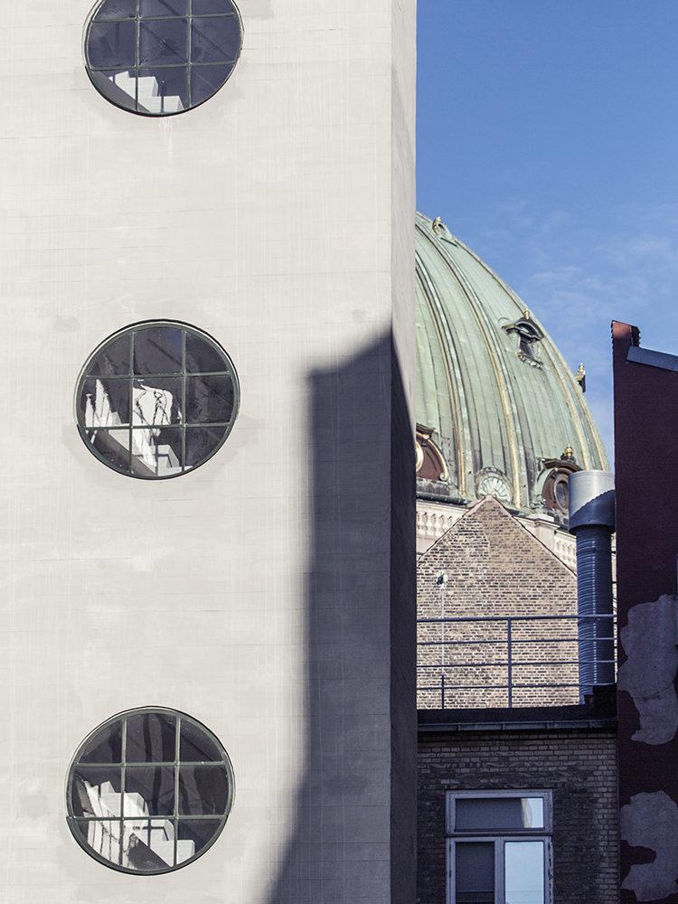 The Palace Garages Copenhagen exterior windows after restoration Elgaard Architecture