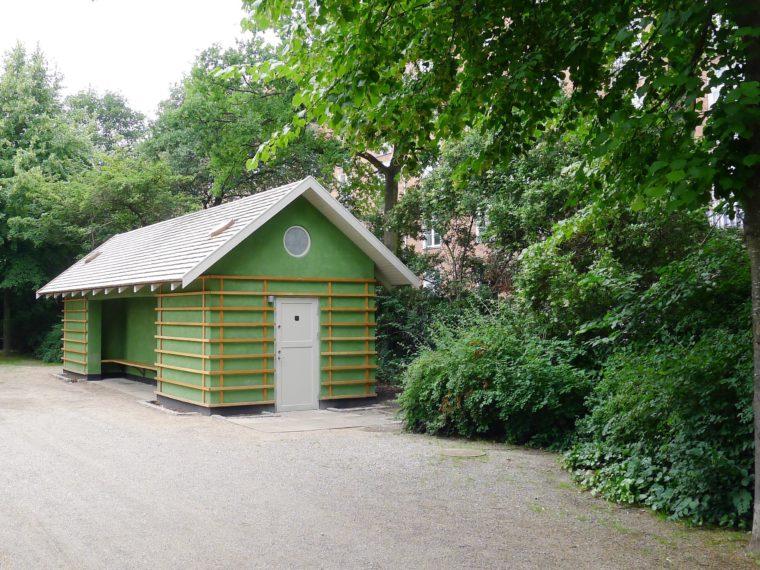 Arne Jacobsen's pavilions Enghaveparken Copenhagen