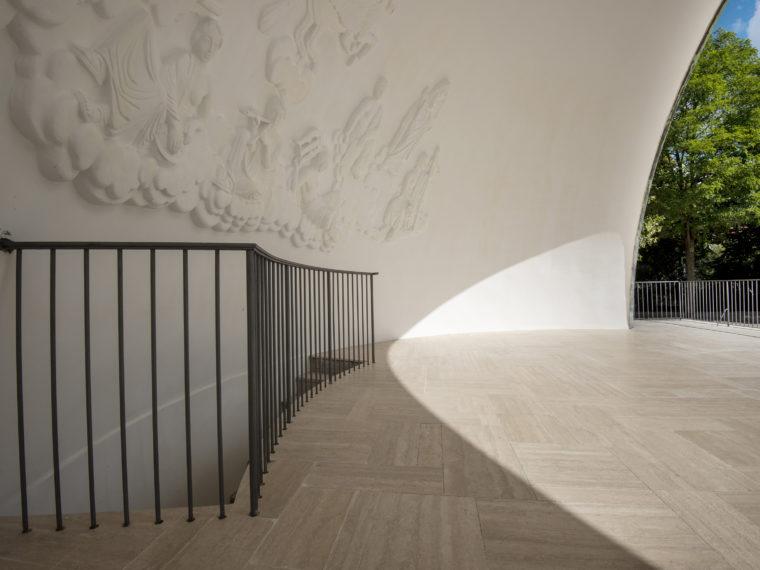 Enghaveparken København Arne Jacobsen-musiktribune gulv Elgaard Architecture
