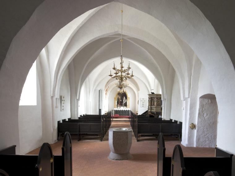 Blistrup Church interior