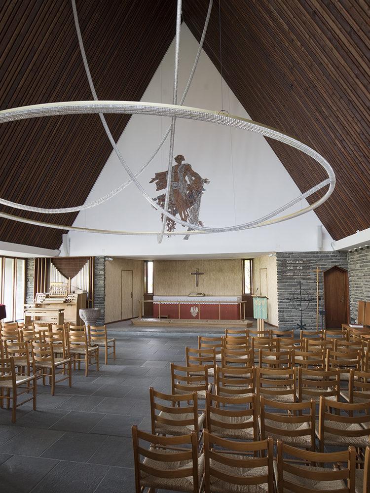 King Haakon's Church Copenhagen interior church room Elgaard Architecture