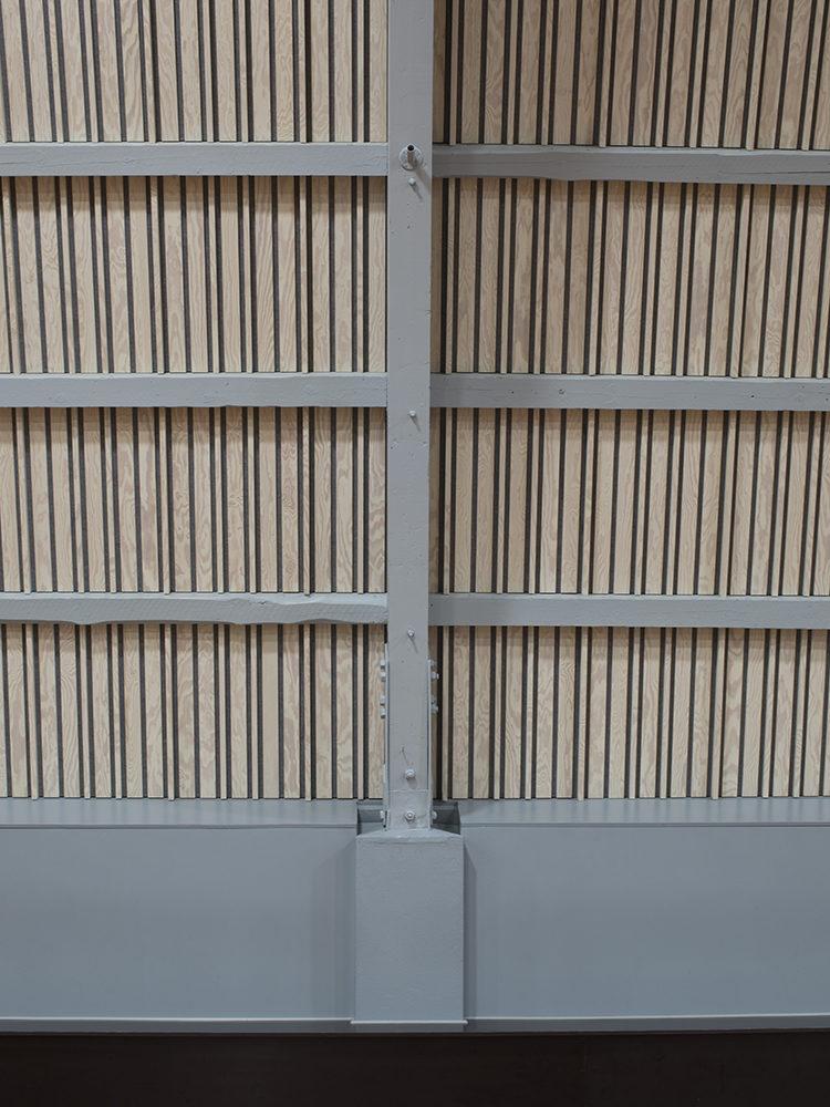 Haslev Hallerne Hal D interiør rundbuespær af lamineret træ Elgaard Architecture