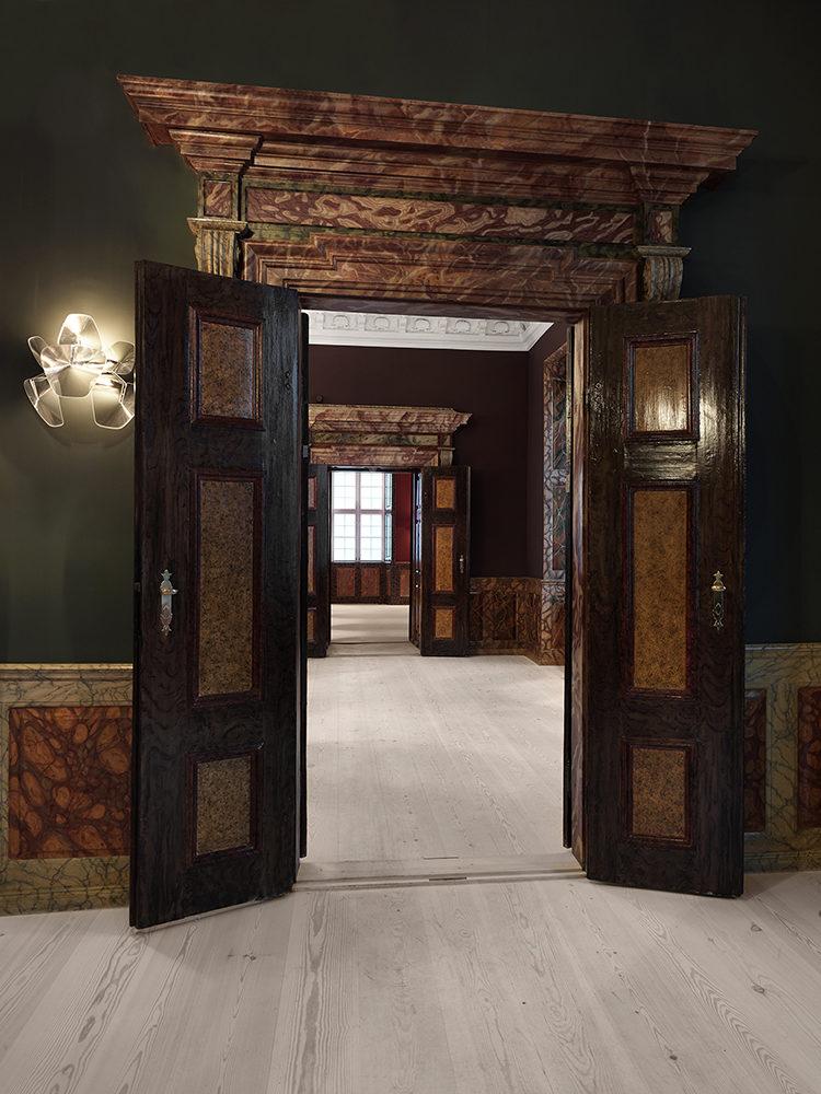 Frederiksberg Castle interior after restoration Elgaard Architecture