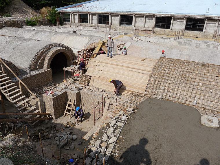 Chateau Mukhrani eksteriør vinkældre under restaurering Elgaard Architecture