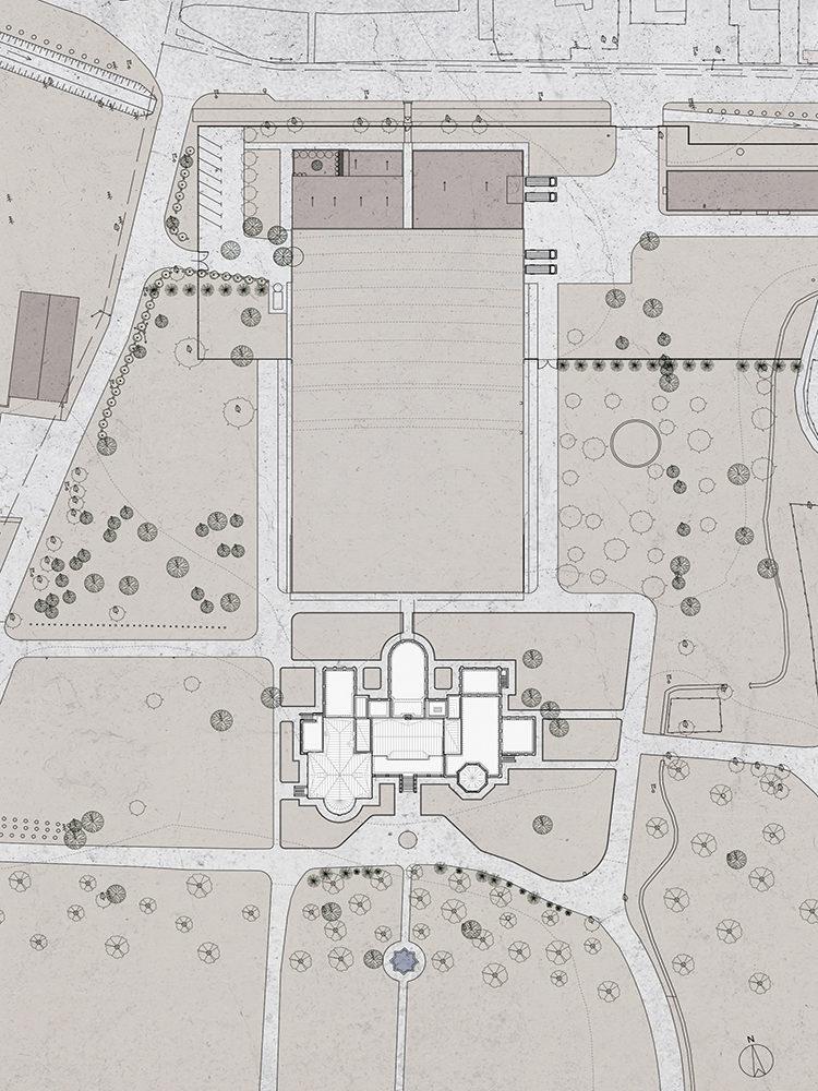 Chateau Mukhrani plantegning over område Elgaard Architecture