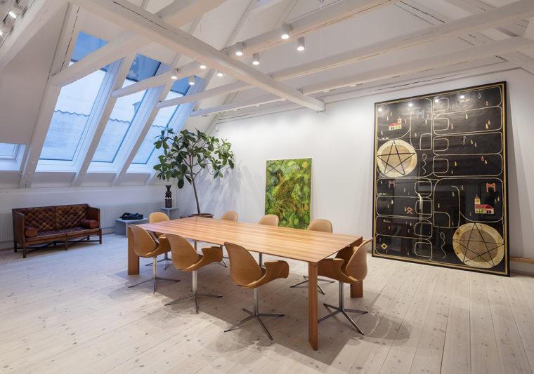 Ny Carlsbergfondet domicil tagetage nye møderum Elgaard Architecture