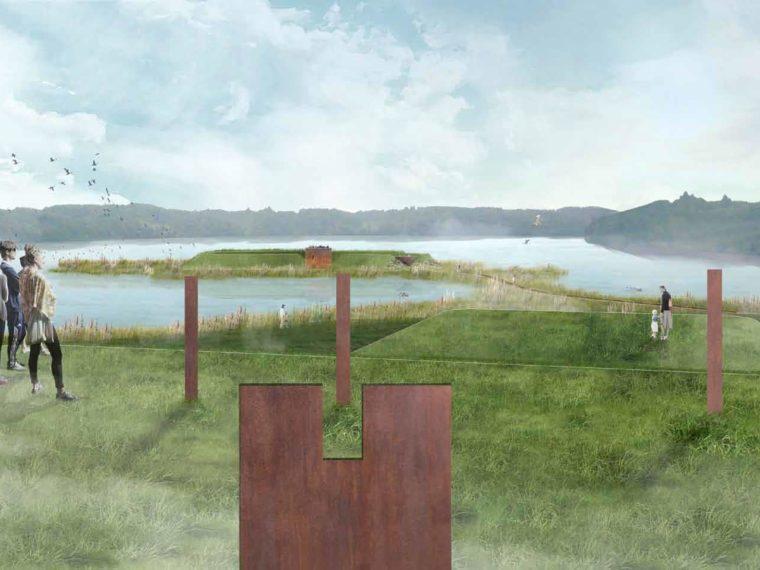 The Five Halds Denmark visualisation Elgaard Architecture