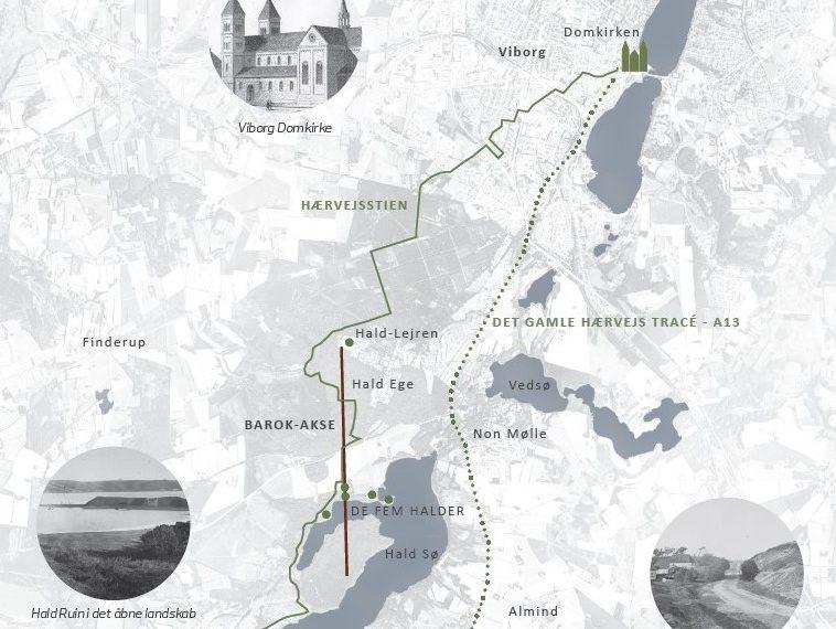 The Five Halds Denmark map Elgaard Architecture