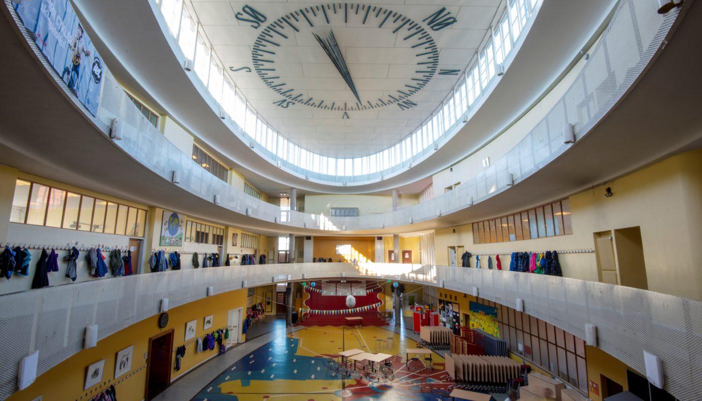 Skolen ved Sundet før restaurering Elgaard Architecture