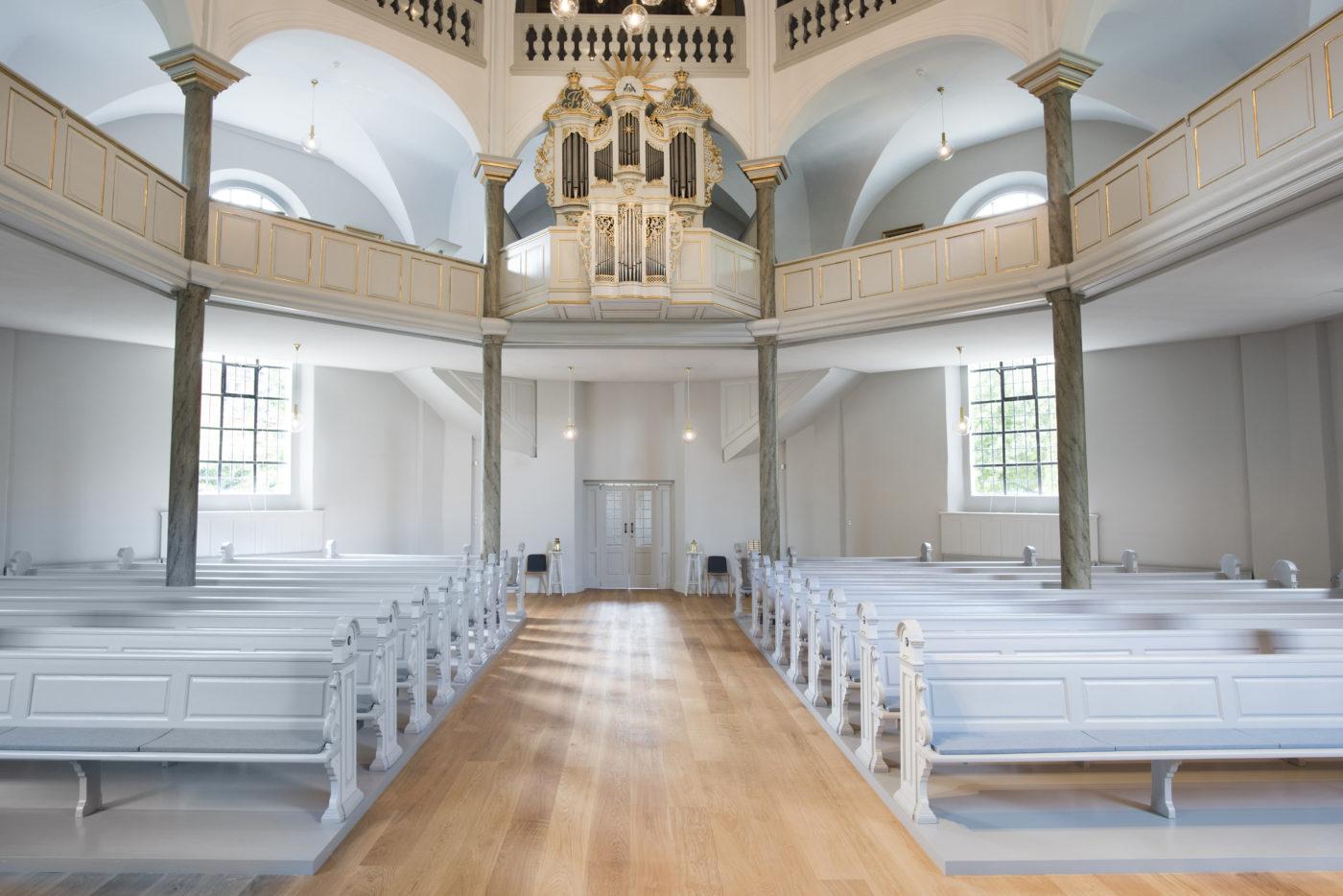 Frederiksberg Kirke efter restaureringen Elgaard Architecture