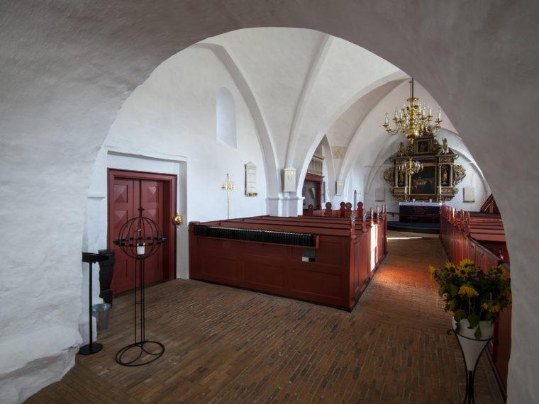Gerlev Kirke restaureret interiør