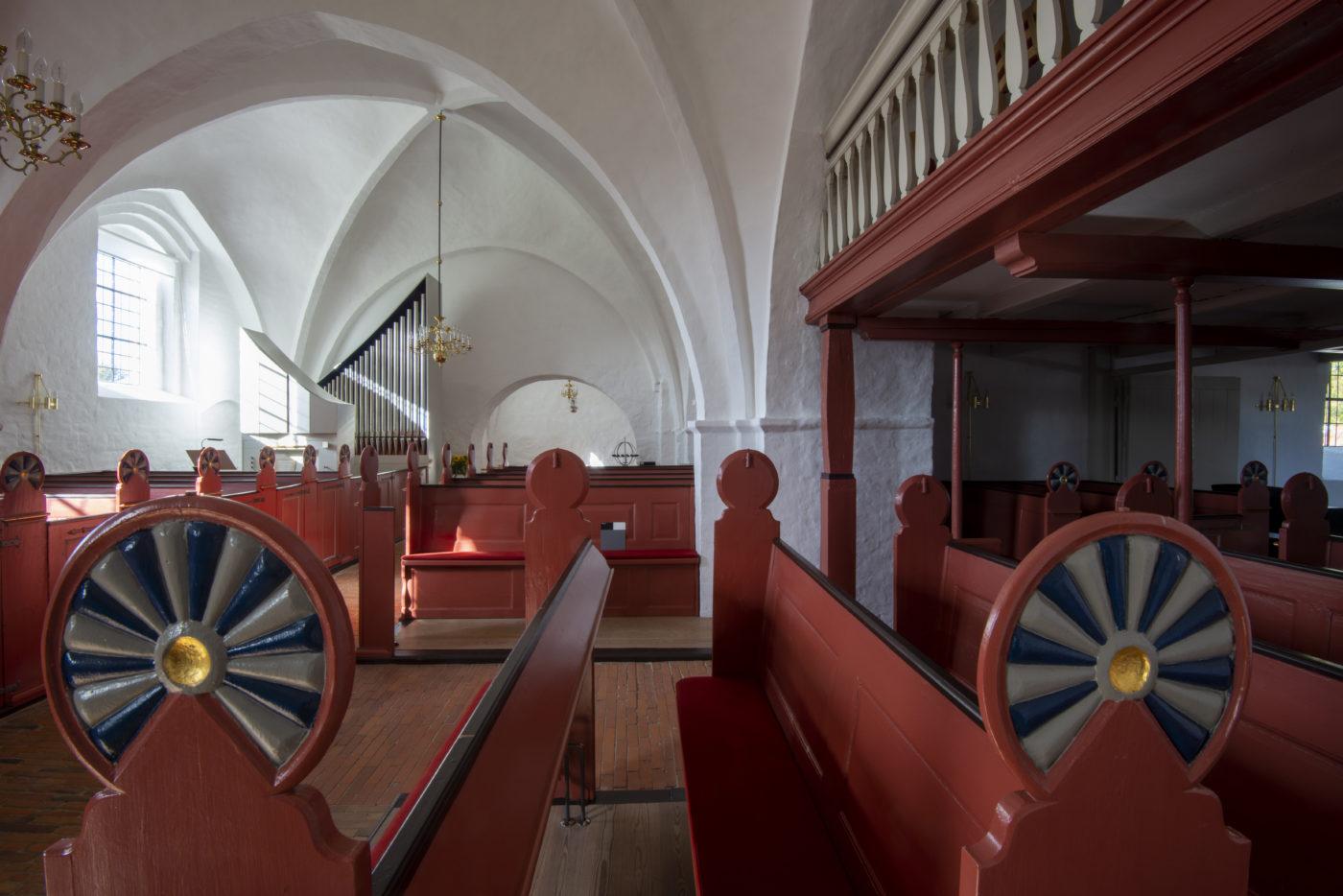 Gerlev Kirke restaurerede stolestader