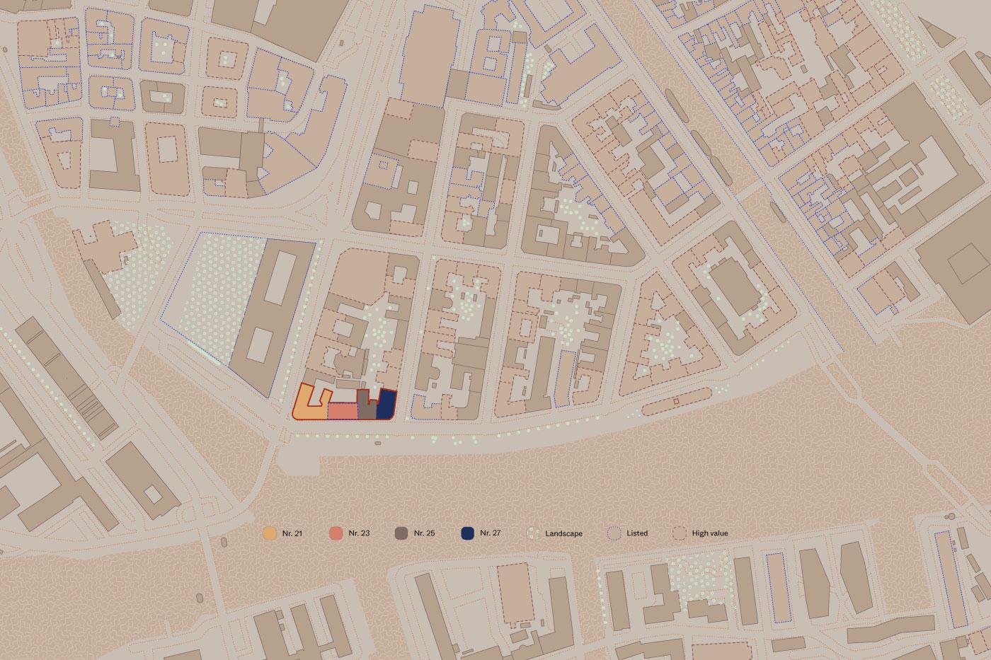 Havnegade 21-27 områdeplan Elgaard Architecture