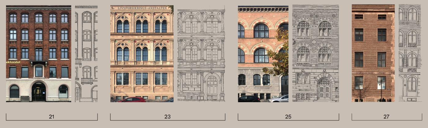 Havnegade 21-27 facades Elgaard Architecture