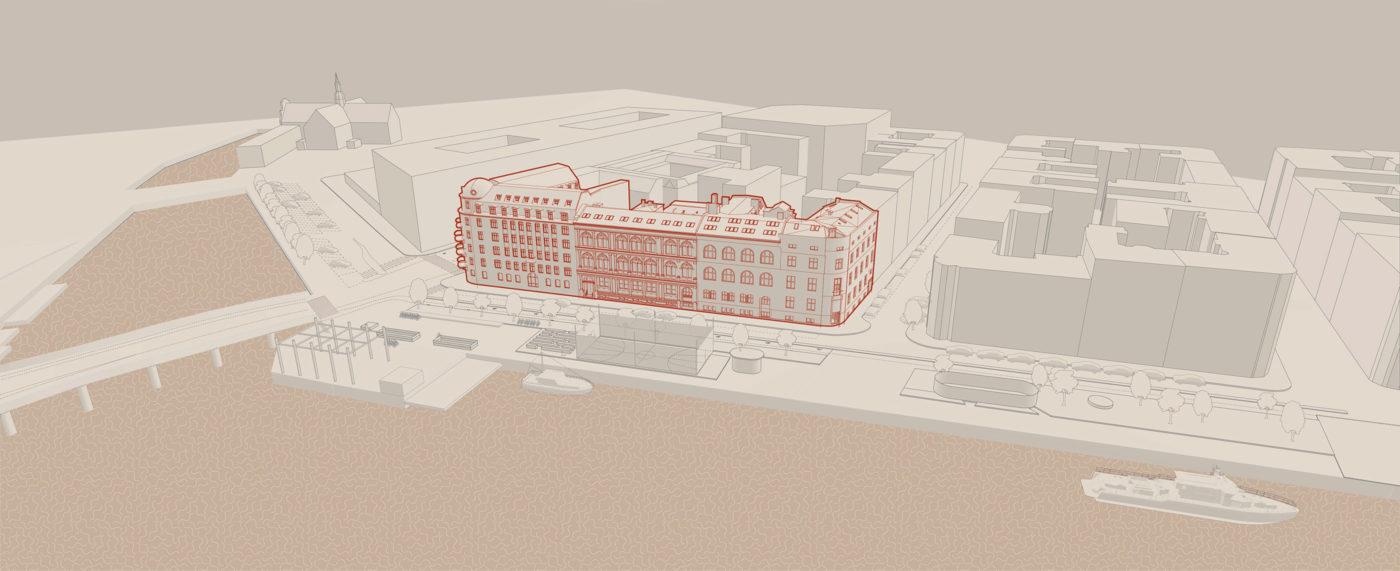 Havnegade 21-27 område før restaurering Elgaard Architecture
