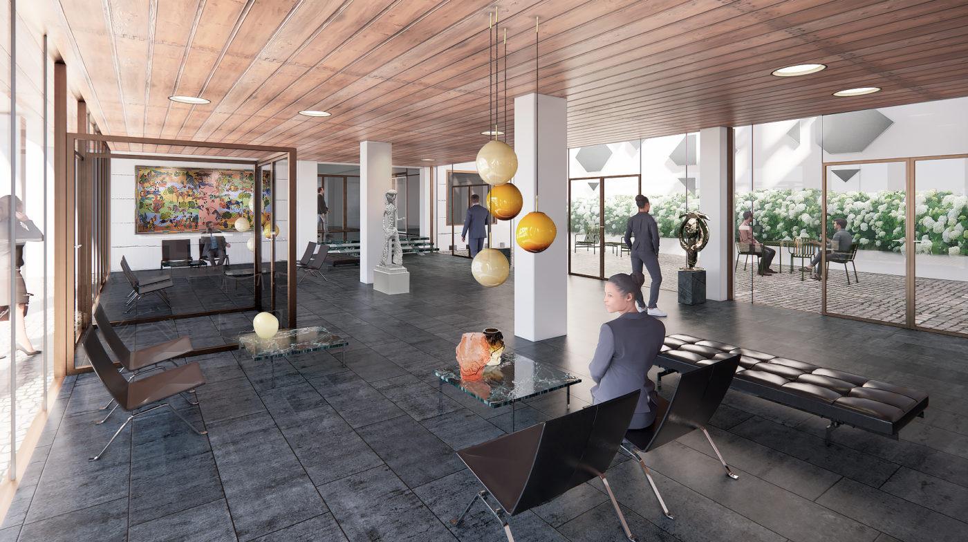 Bredgade 40 foyer visualisation Elgaard Architecture