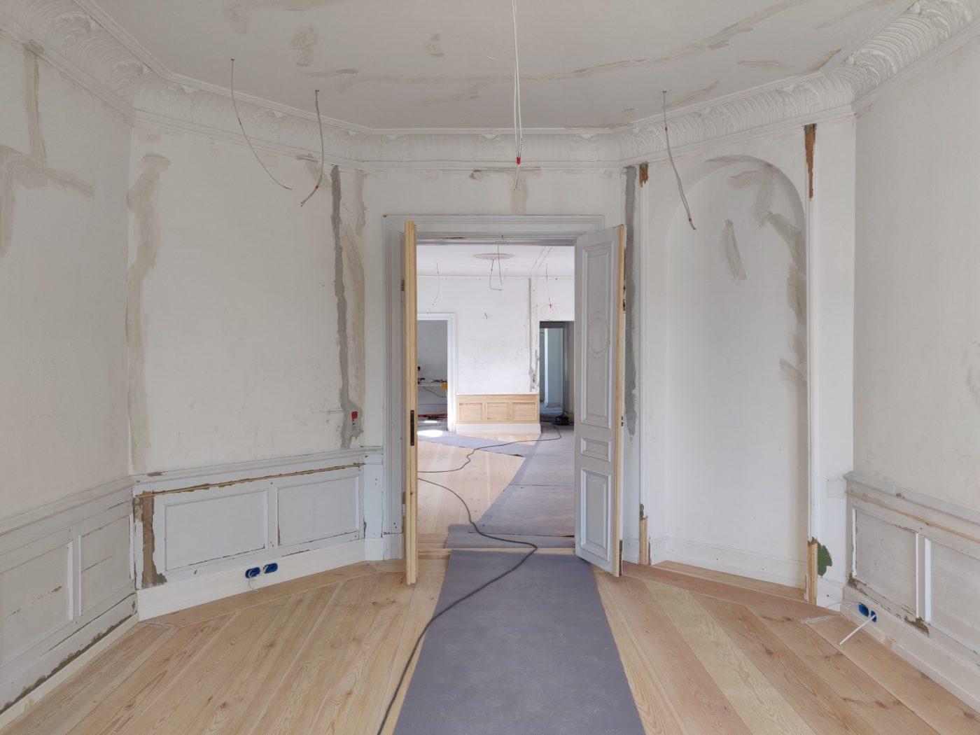 Frederiksgade 11 Copenhagen interior during restoration Elgaard Architecture