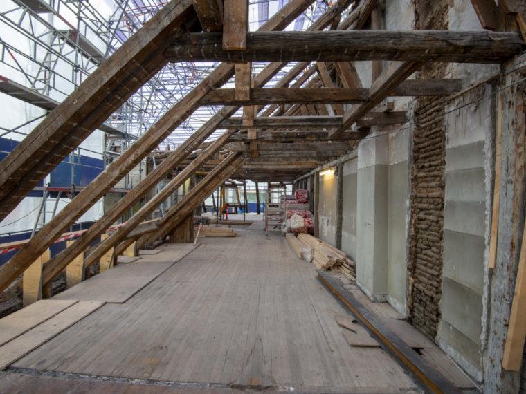 Nikolaj Plads 25 Copenhagen roof during restoration Elgaard Architecture