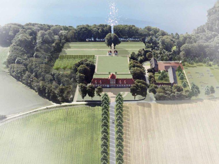 Hald Hovedgård visualisering
