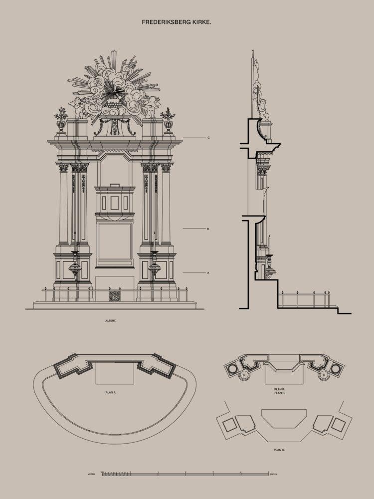 Frederiksberg Church pulpit altar Elgaard Architecture