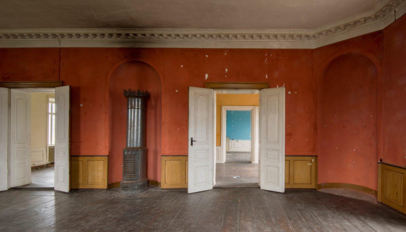 Kastrup Værk interiør rødt værelse Elgaard Architecture