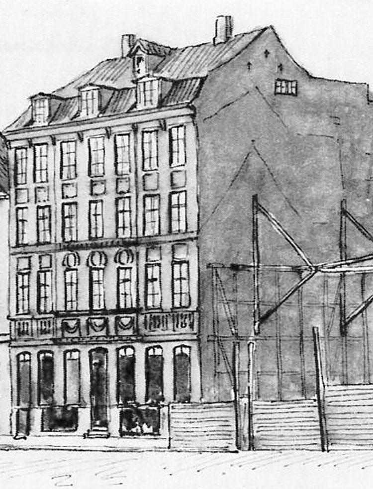 Antonigade 9 København historisk tegning