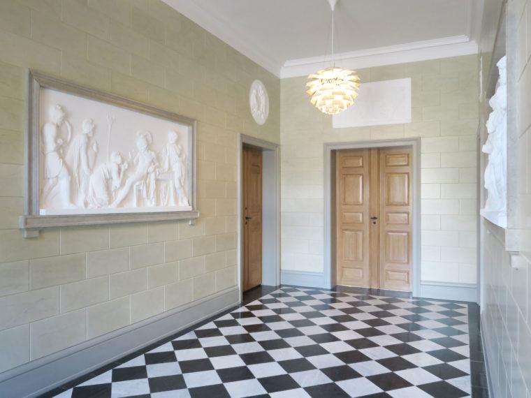 Carlsberg Academy vestibule after the restoration Elgaard Architecture