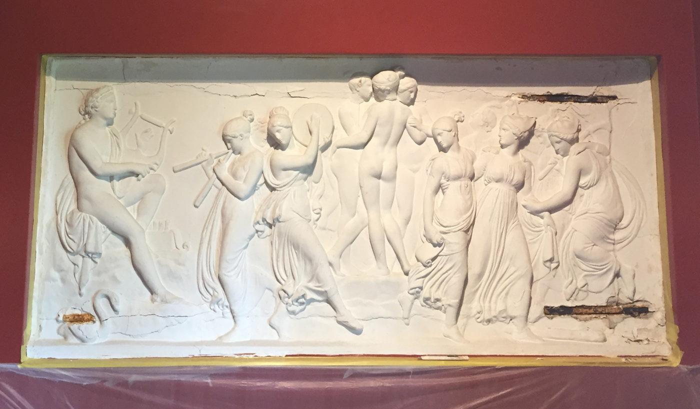 Carlsberg Academy Thorvaldsen relief before conservation Elgaard Architecture