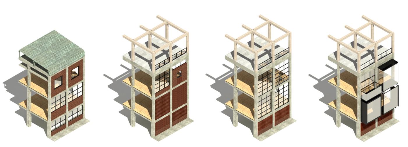 The Paper Mill the Willemoesgade block Aarhus facade variants Elgaard Architecture