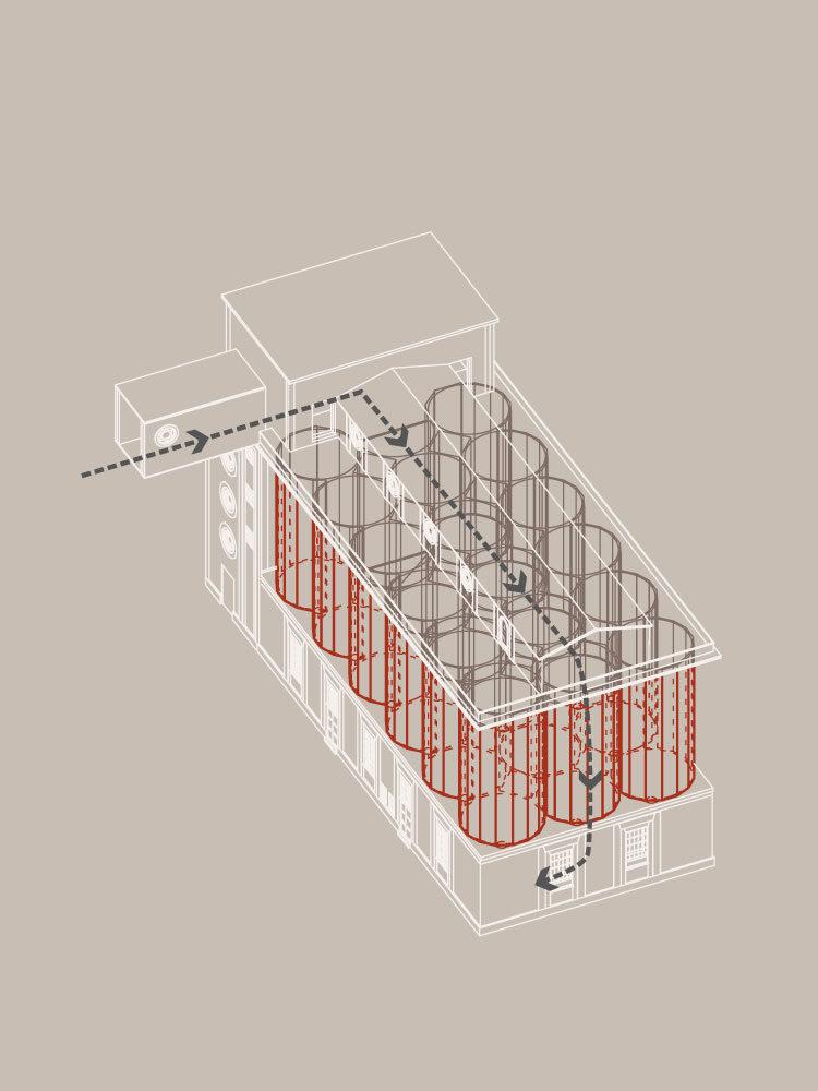 Spritfabrikken Aalborg diagram Elgaard Architecture