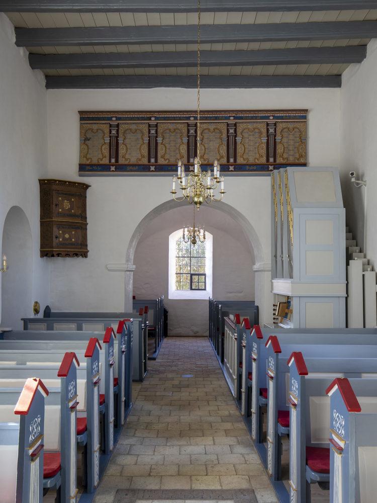 Veksø Church interior after restoration Elgaard Architecture
