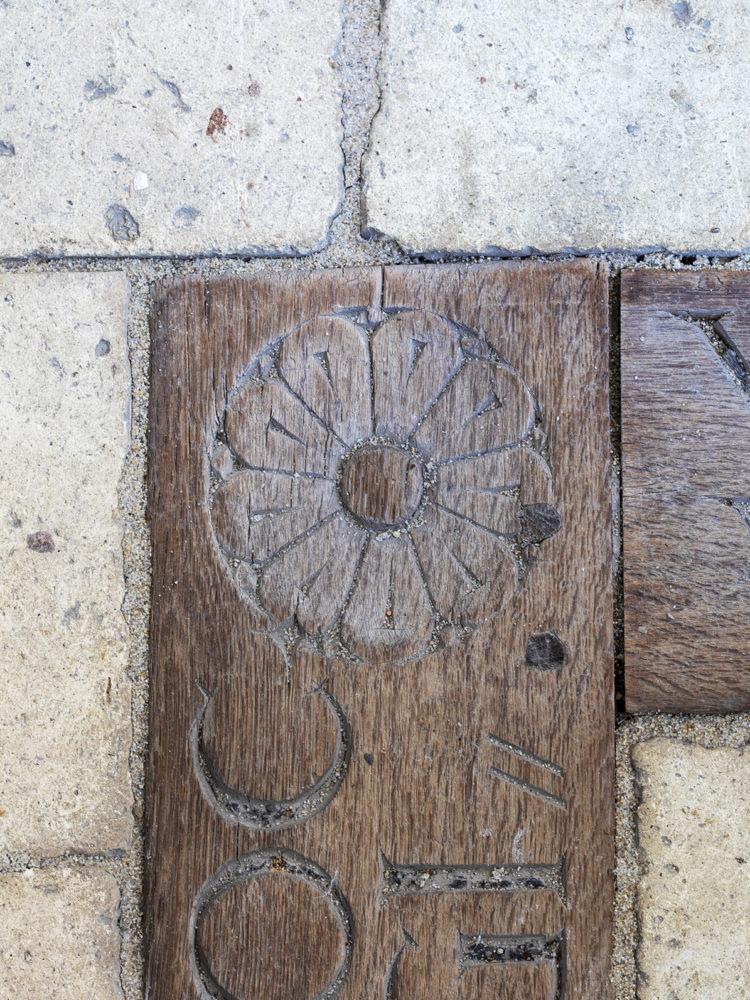 Veksø Church floor after restoration Elgaard Architecture